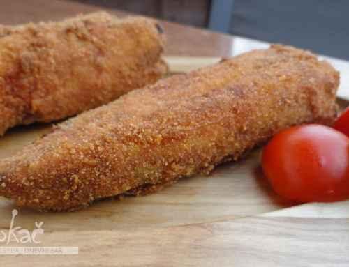 Ocvrte polnjene paprike s šunko in sirom